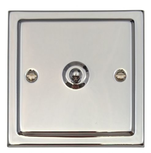 G&H TC281 Trimline Plate Polished Chrome 1 Gang 1 or 2 Way Toggle Light Switch